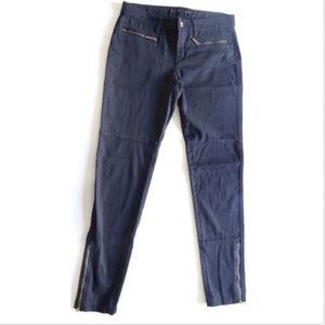 Michael Kors Ankle Zipper Stretch Skinny Leg Pants